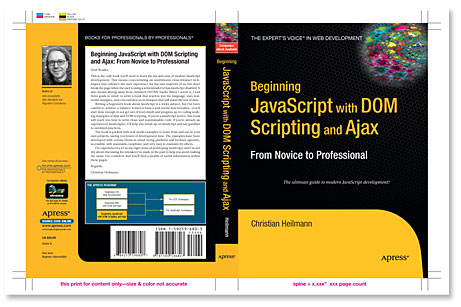 Cover of Beginning JavaScript with DOM Scripting and Ajax
