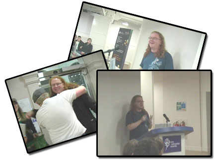 screenshots of the video of my talk at GeekUp Leeds