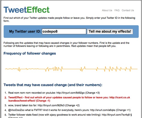 TweetEffect Screenshot