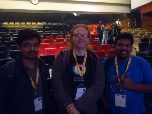 posing for a photo with Krishna Kumar and Jaison Justus