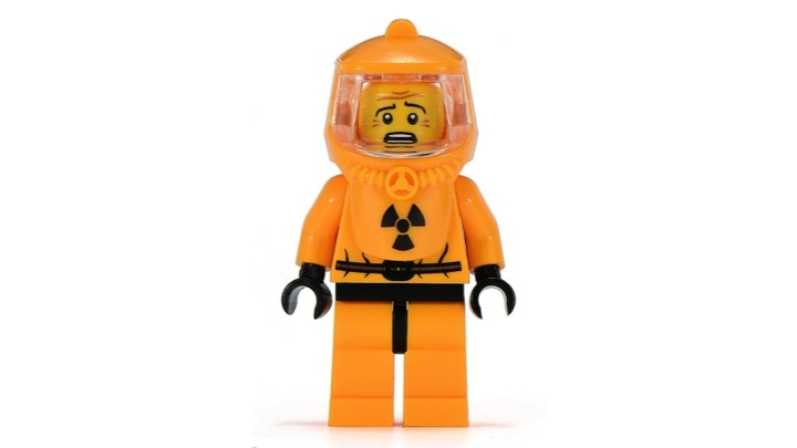 Scared minifig