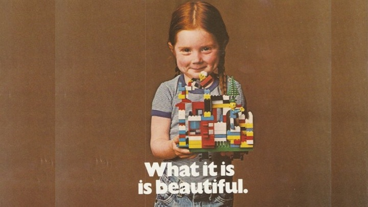 What it is, is beautiful. Lego advertisment in the 70s