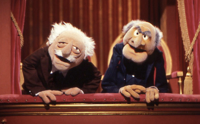 statler and waldorf of muppet show