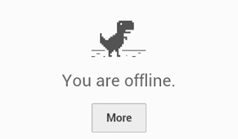 you are offline - and that's bad.