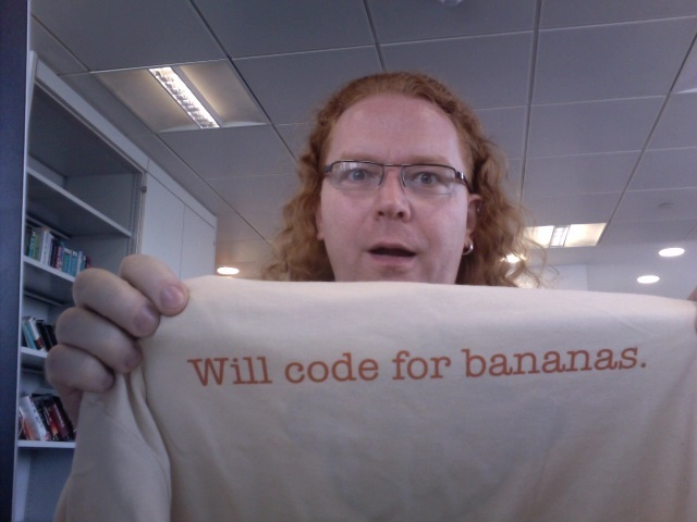 Will code for Bananas