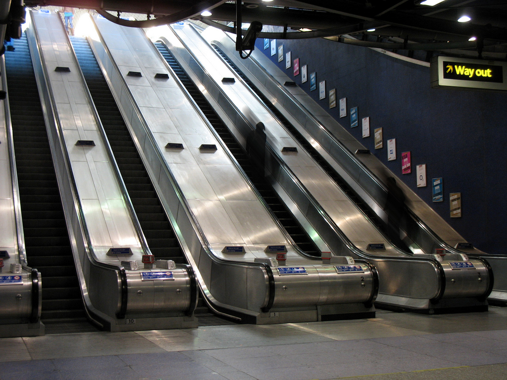 escalators are great. when there is an issue, they become stairs and still work