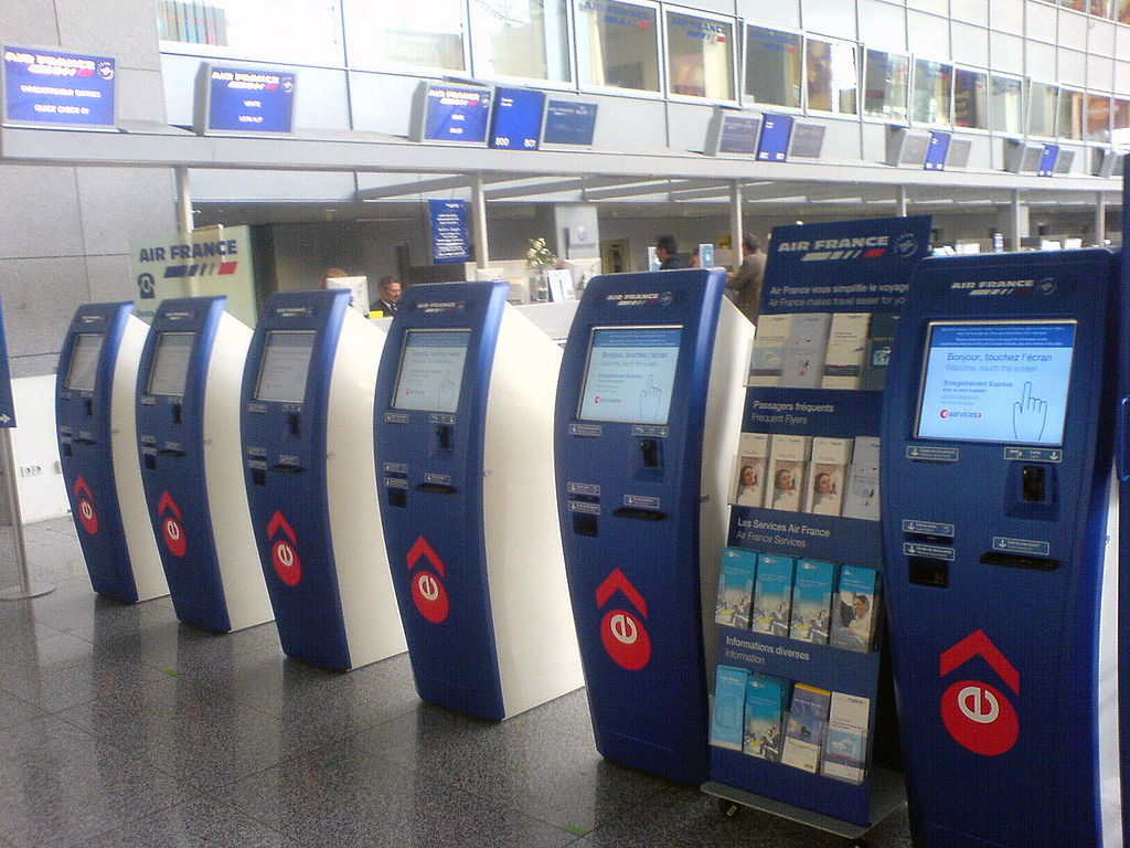 Self check-in counters