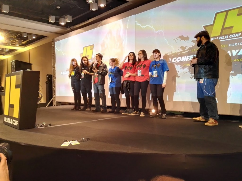 Organisers on stage