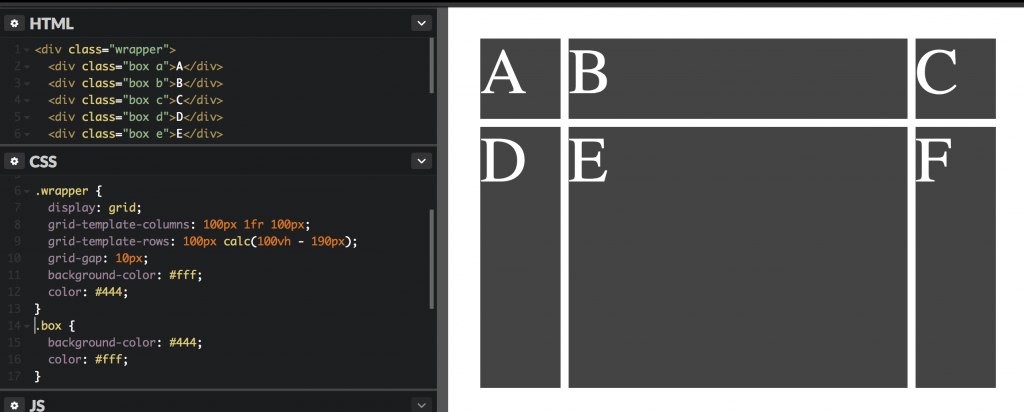 A simple grid example