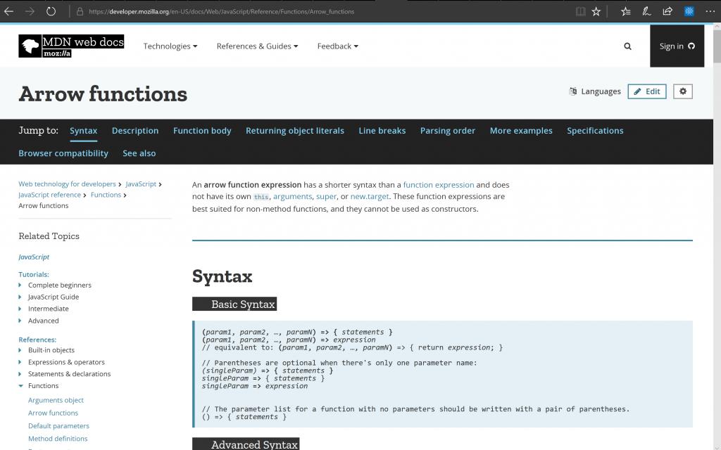Mozilla Developer Netwwork