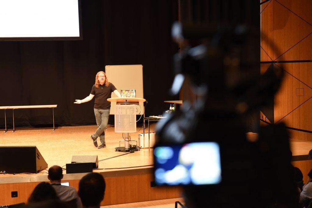 Chris Heilmann presenting