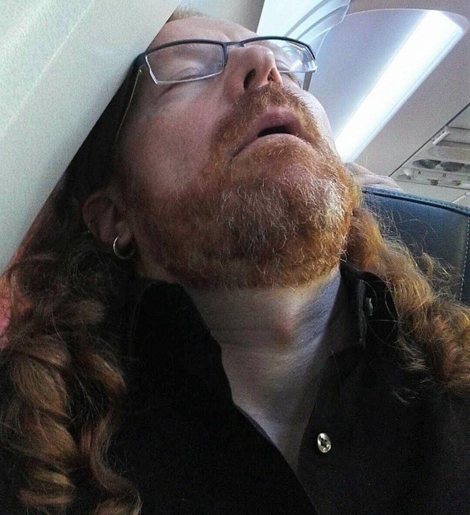 Chris Heilmann on plane