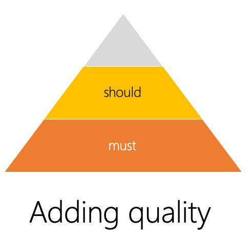 Adding Quality