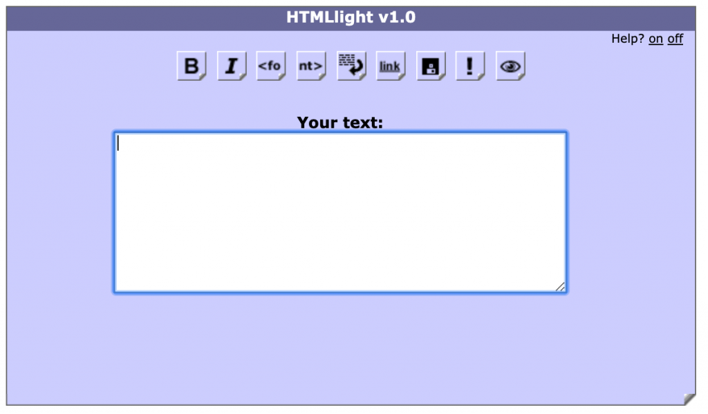 HTML Light interface