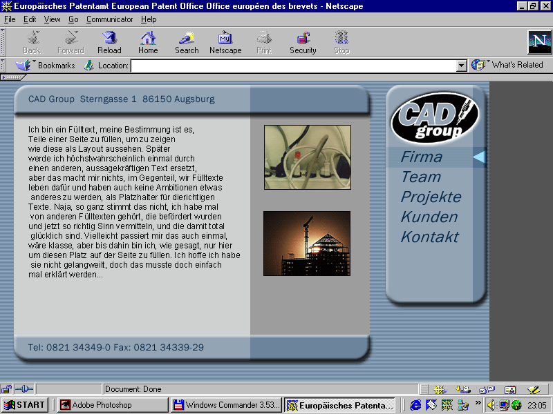 Design demo in Netscape 4