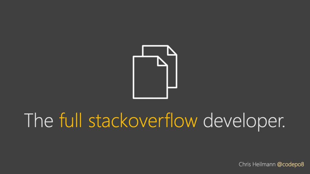 the full stackoverflow developer