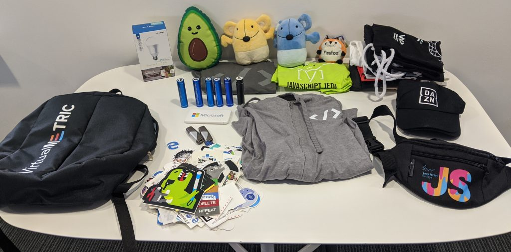 swag table at office