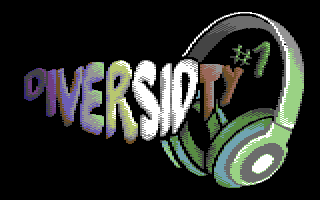 Pixel logo saying Diversidty