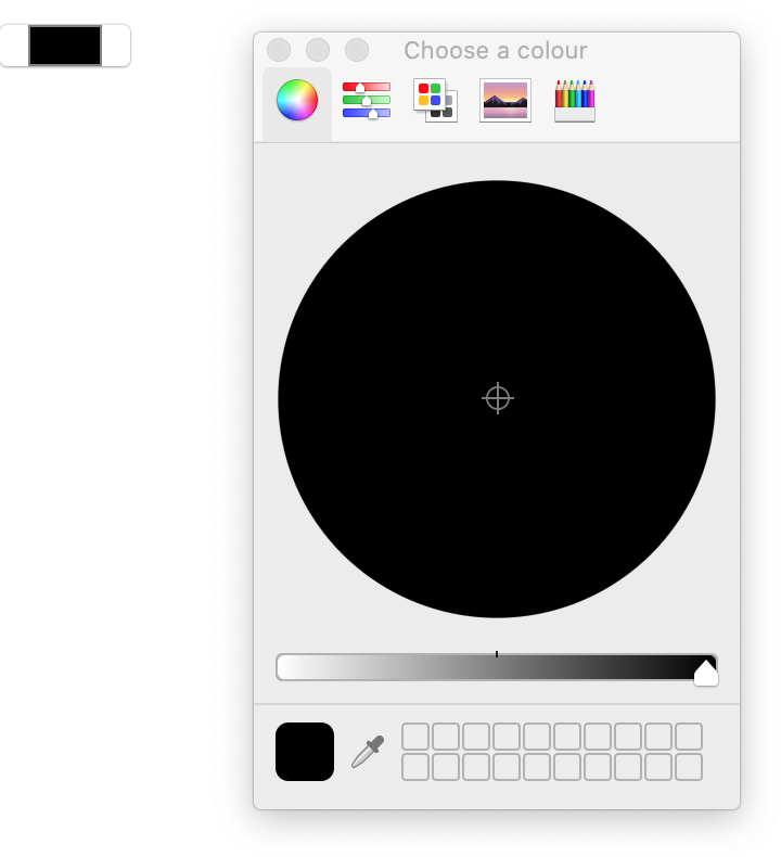 Firefox not limiting the colour picker to a preset