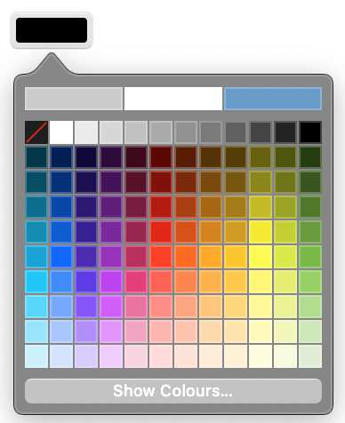 Colour Picker with limited palette on Safari