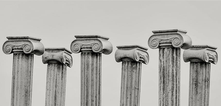Greek pillars