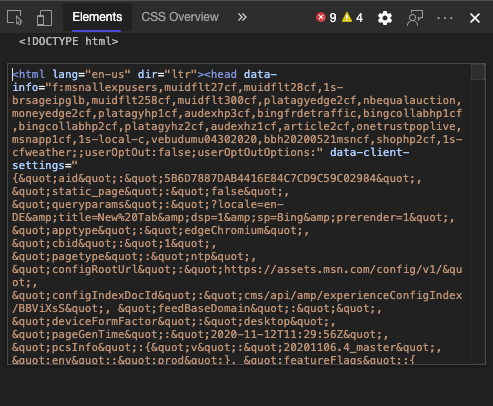 Editing HTML in Devtools
