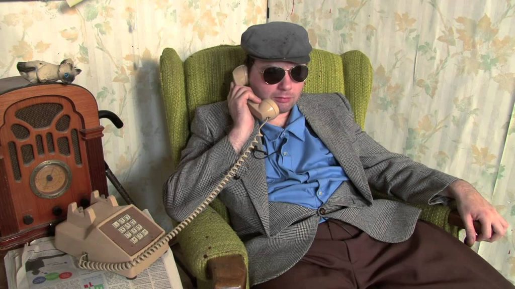 Mr. Plinkett of Redlettermedia - Grumpy old man holding a phone