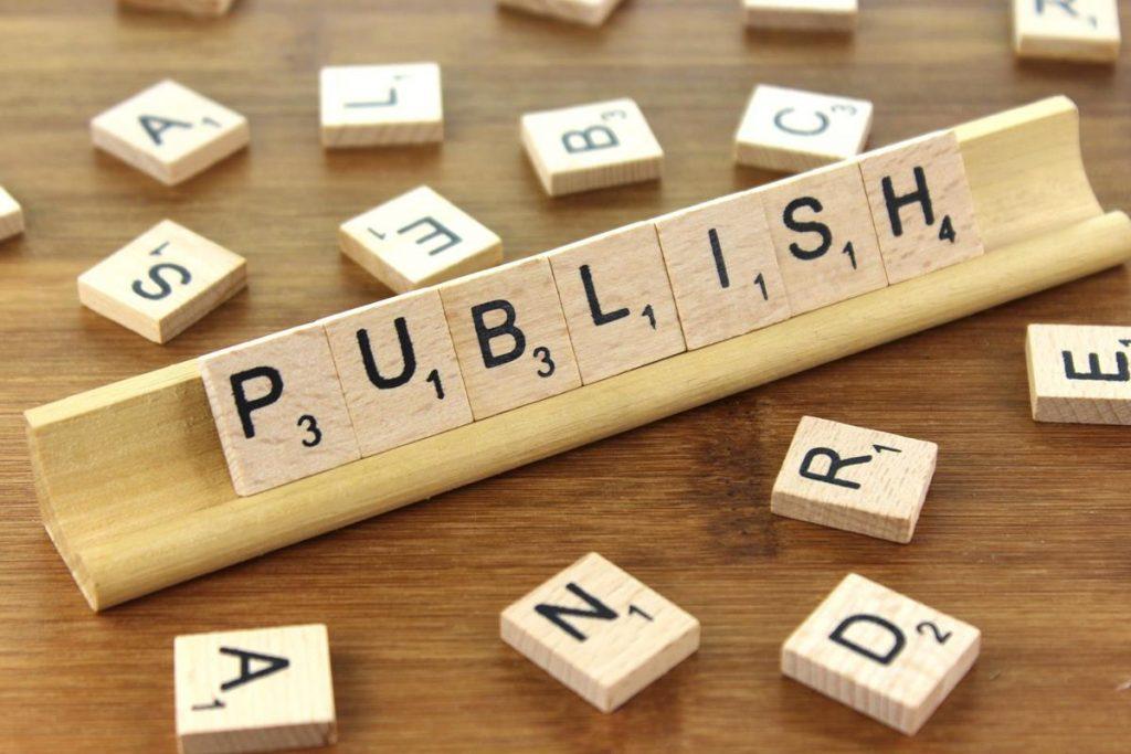Scrabble board spelling publish